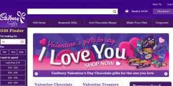 Screenshot Cadbury Gifts Direct