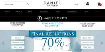 Daniel Footwear discount code » Free