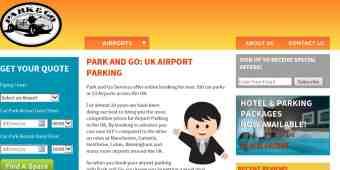 Screenshot Park and Go Airport Parking