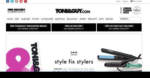 Screenshot TONI&GUY