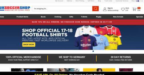 Screenshot UKSoccershop