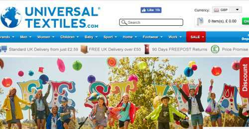 Screenshot Universal Textiles