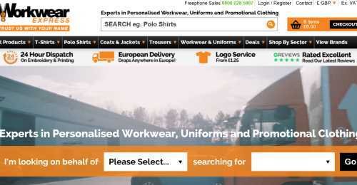 Screenshot Workwear Express